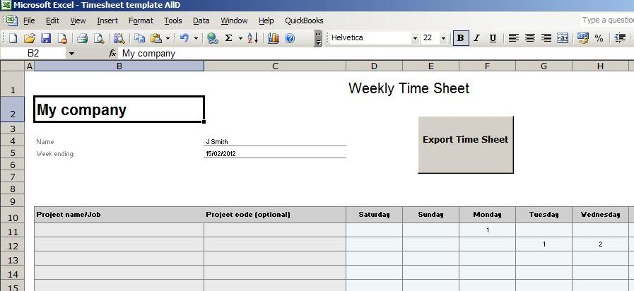 Construction Timesheet Template Excel  PetitComingoutpolyCo